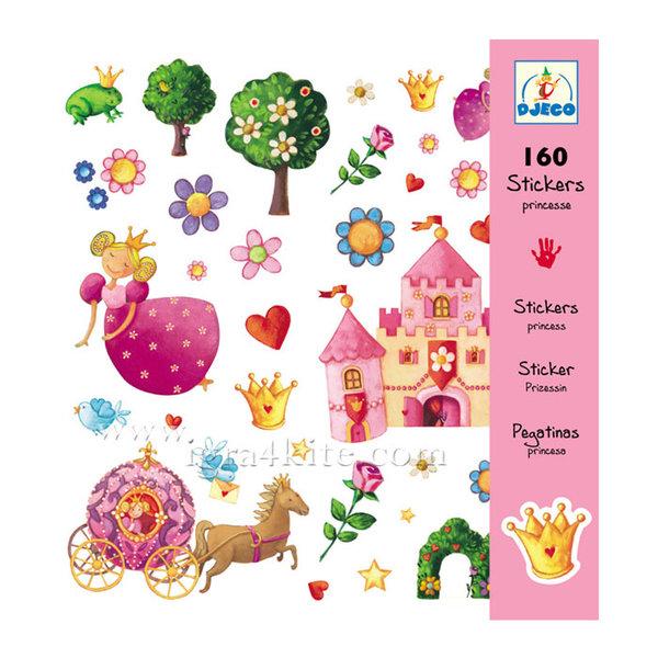Djeco - Стикери Princess 160 бр 08830