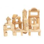 Woody - Дървен конструктор натурален 50 части 90650