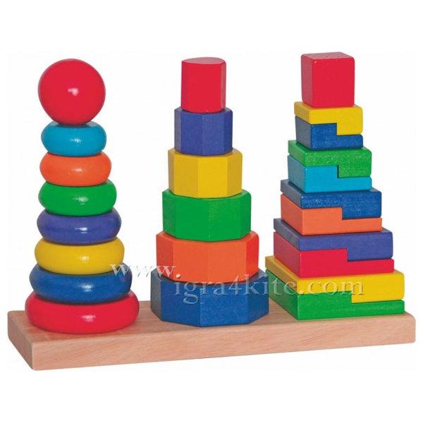 Woody - Дървена пирамида Кула 90836