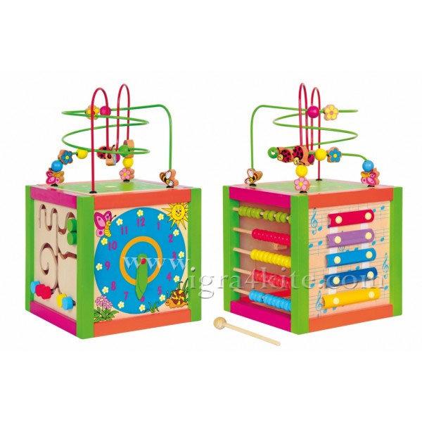 Woody - Дидактически цветен куб 90837