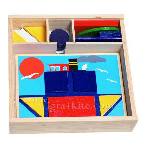 Woody - Дървена игра с форми и цветове 90605