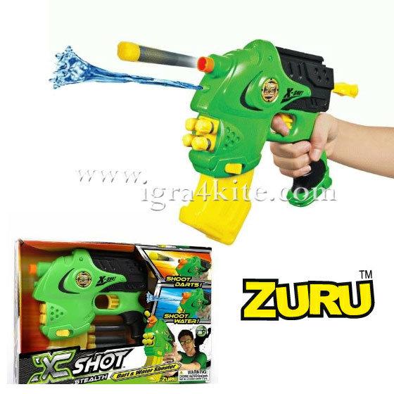 Zuru X-Shot - Оръжие с вода и стрелички 2в1