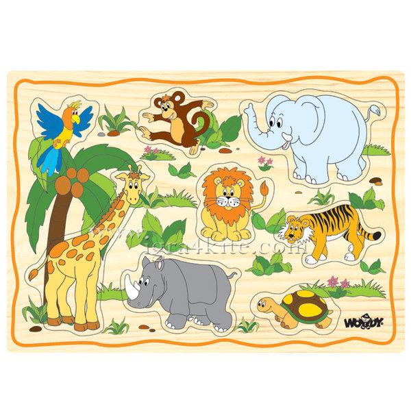 Woody - Детски дървен пъзел Африка 90252