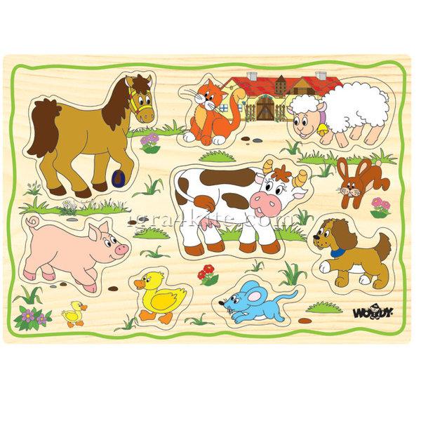 Woody - Детски дървен пъзел Ферма 90252