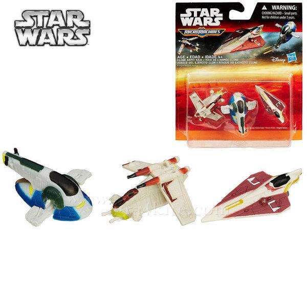 Hasbro Star Wars - Комплект 3 бойни кораба от Междузвездни войни Clone Army Raid b3500