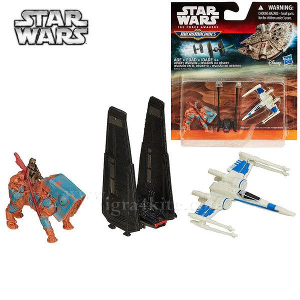 Hasbro Star Wars - Комплект 3 бойни кораба от Междузвездни войни Desert Invasion b3500