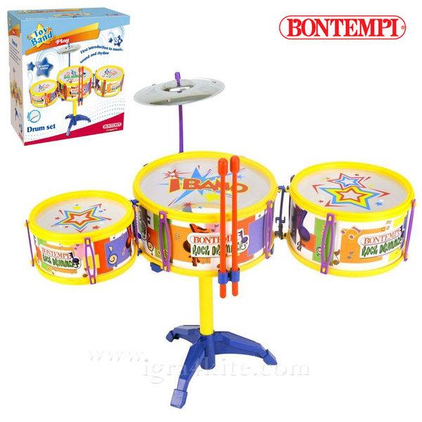 Bontempi - Детски комплект рок барабани на стойка 191259