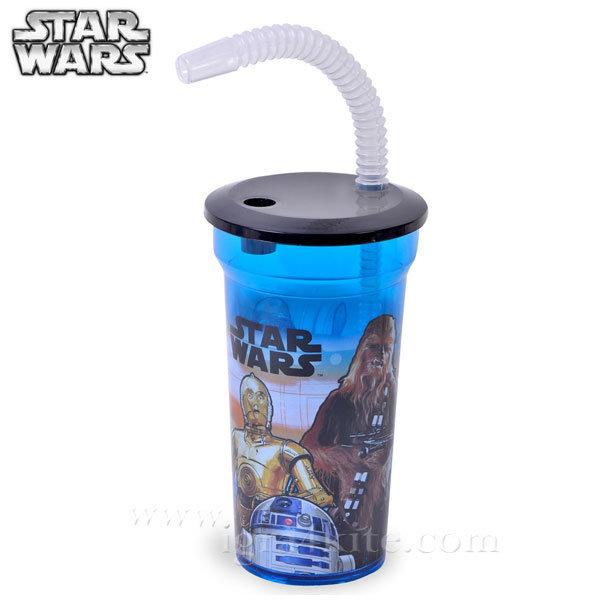 Star Wars - Детска чаша със сламка Стар Уорс 84710