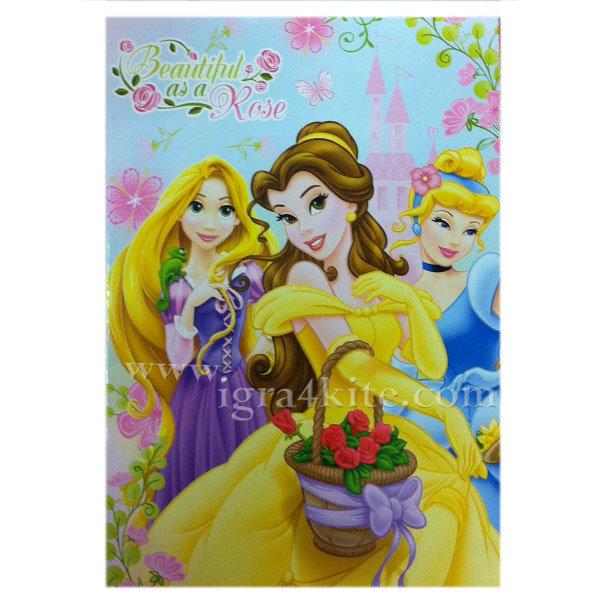 Тетрадка B5 40 листа Disney Принцеси