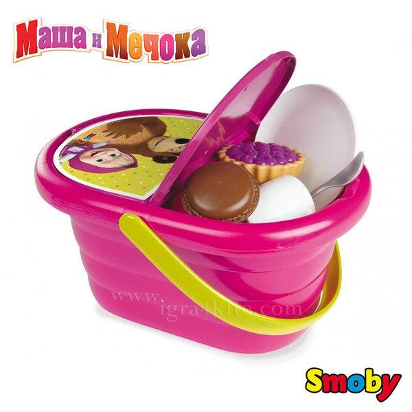 Smoby - Маша и мечока Кошница за пикник 310515