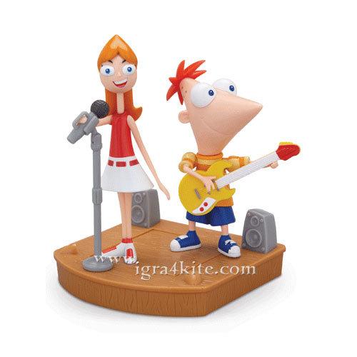 Phineas and Ferb - Фигури Финиъс и Кендис Deluxe