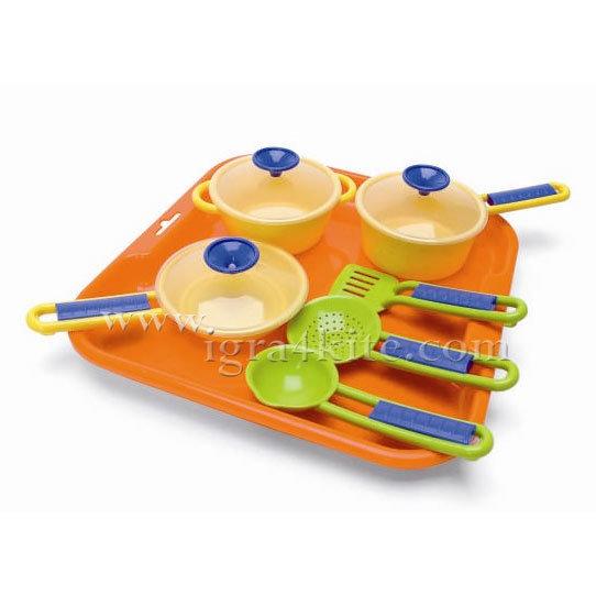 Wader - Детски поднос с кухненски съдове 25410