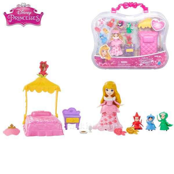 Disney Princess - Мини принцеси Спящата красавица Аврора с аксесоари b5341
