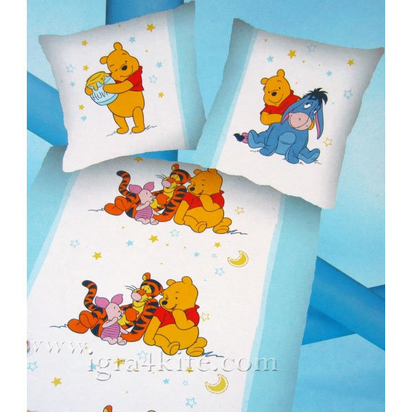 Herding - Детски спален комплект Мечо Пух 2 части