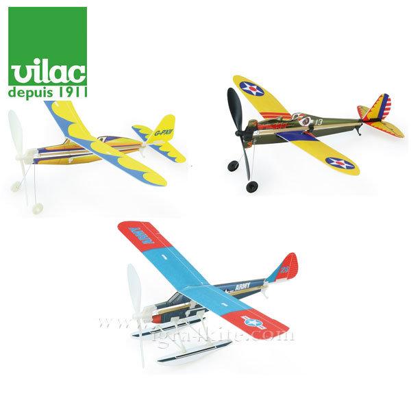 Vilac - Дървен самолет Rubber Band 3211