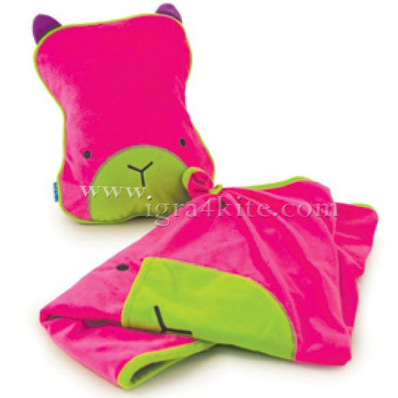 Trunki - Възглавница и одеало за път Поспаланковци Pink