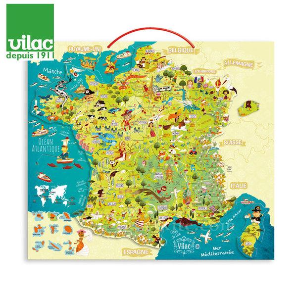 Vilac - Дървена магнитна Карта на Франция 2725