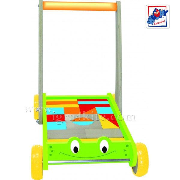 Woody - Конструктор и количка за прохождане Жабка 90903