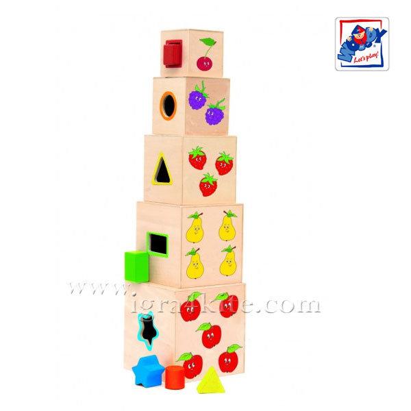 Woody - Кубчета за сортиране Веселото влакче 93018