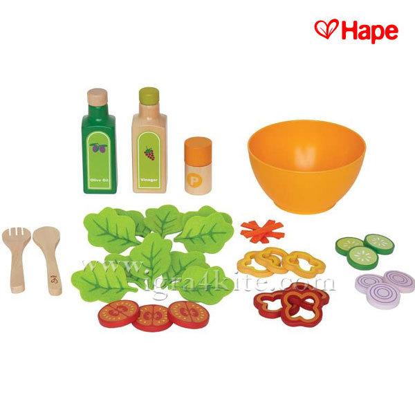 Hape - Дървен комплект за салата H3116