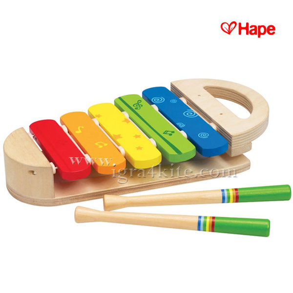 Hape - Дървен детски ксилофон h0302