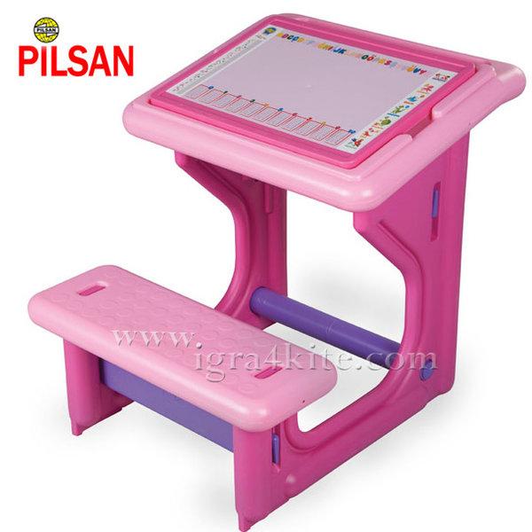 Pilsan - Детски чин с пейка Розов 03410