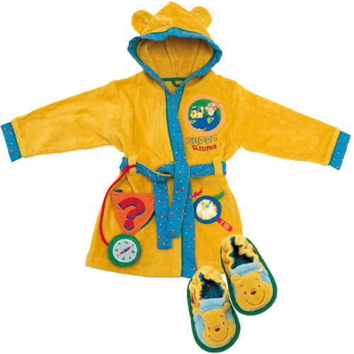 Disney Winnie the Pooh - Детска хавлия + пантофи Мечо Пух 5094