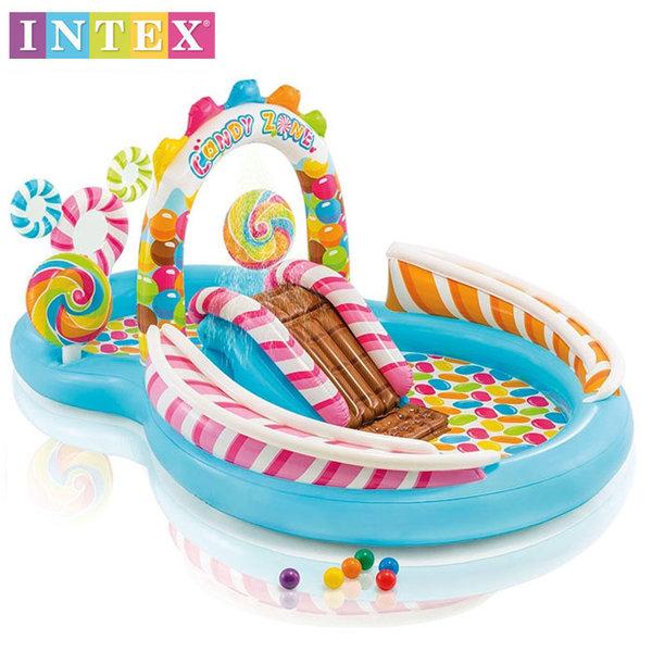 Intex - Детски надуваем център за игра с пързалка и топки 57149