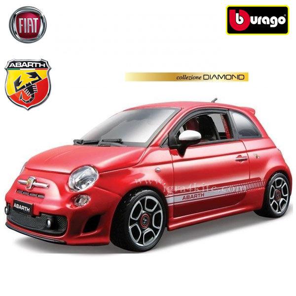 Bburago - Кола 1:18 Fiat 500 Abarth Red