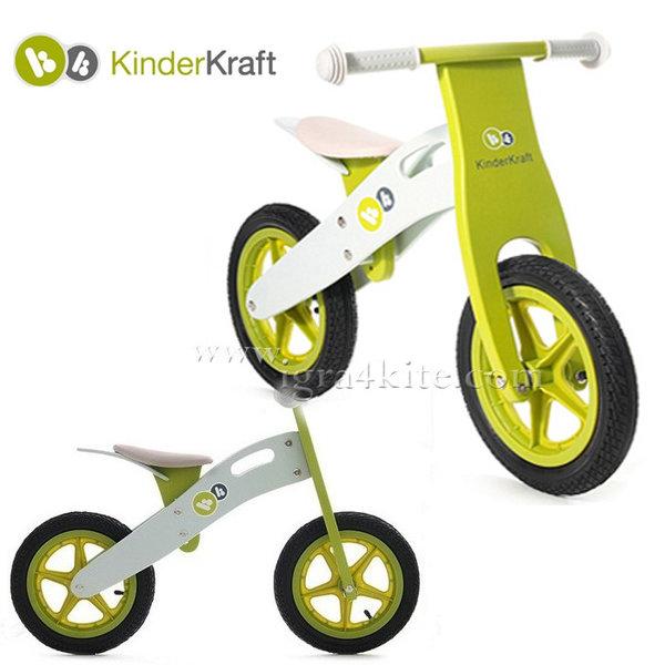 KinderKraft - Детско дървено балансиращо колело Runner