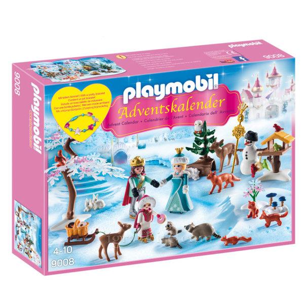 Playmobil - Коледен календар Ледена пързалка в парка на замъка 9008