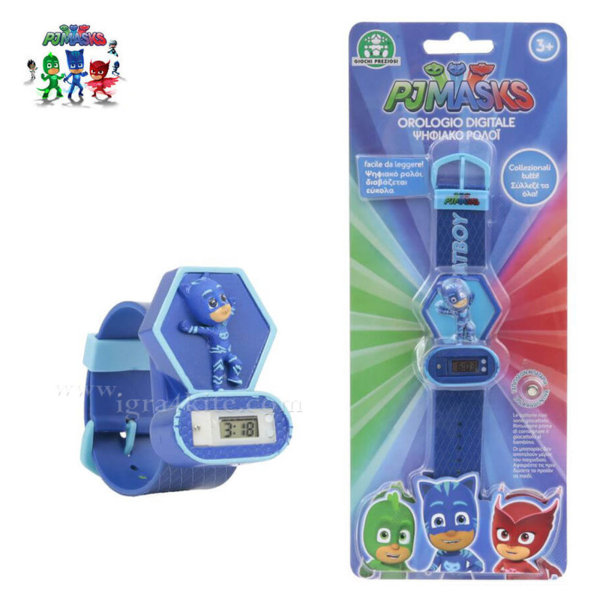 PJ Masks - Детски електронен часовник Пиджи Маски 3D 240002