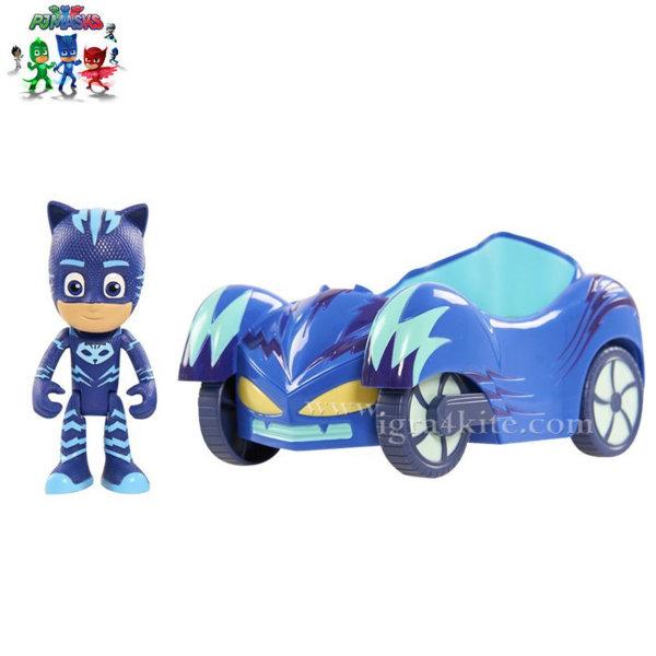 PJ Masks - Превозно средство с фигура Cat Boy 44000