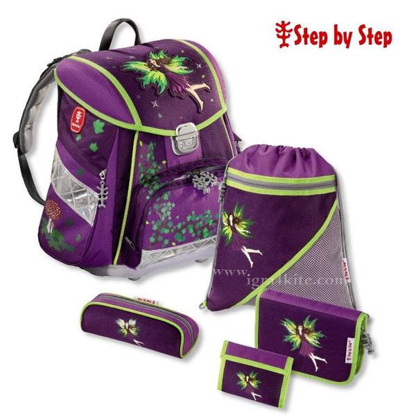 Step by Step  - Ергономична ученическа раница 5 части Purple Fai