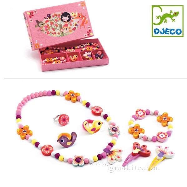 Djeco - Детски комплект бижута Wood flower 06570