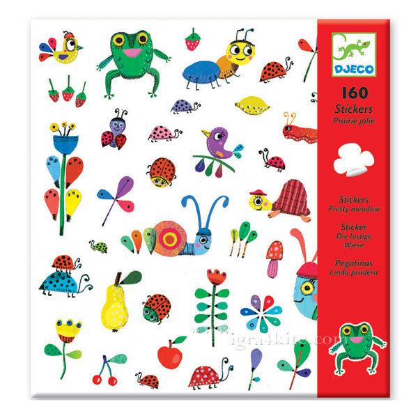 Djeco - Детски стикери На ливадата 160бр. 08880