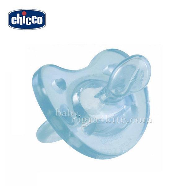 Chicco - Залъгалка силиконова PHYSIO Soft 6-12 м. синя 2712.21
