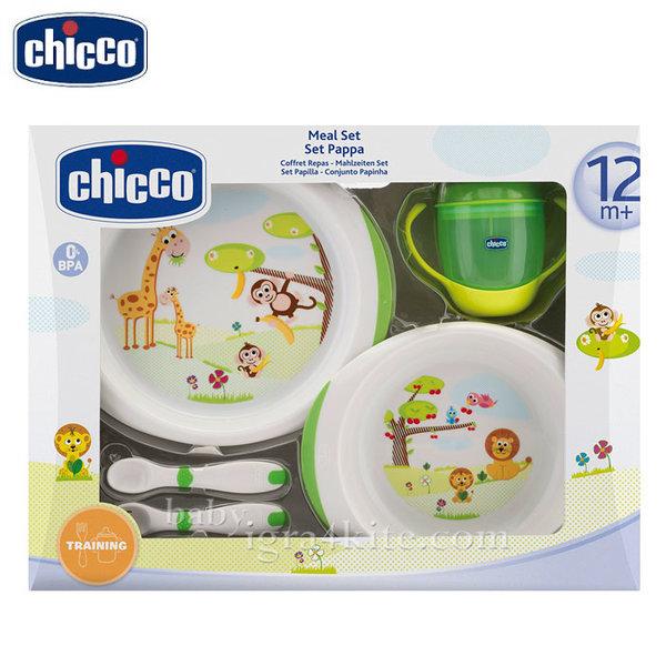 Chicco - Комплект за хранене с чашка 12+ месеца