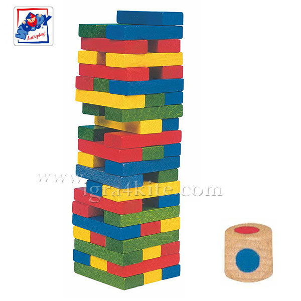 Woody - Балансова кула Дженга със зарче 10210