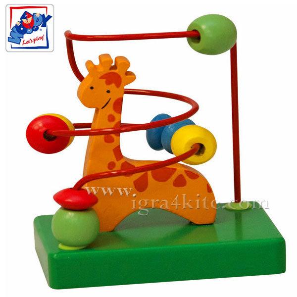 Woody - Дървен мини лабиринт-жираф 90028