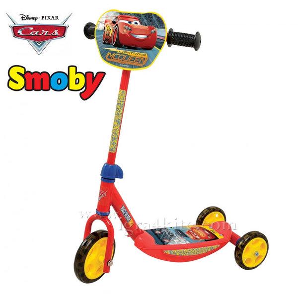Smoby - Детска тротинетка с 3 колела Cars 750137