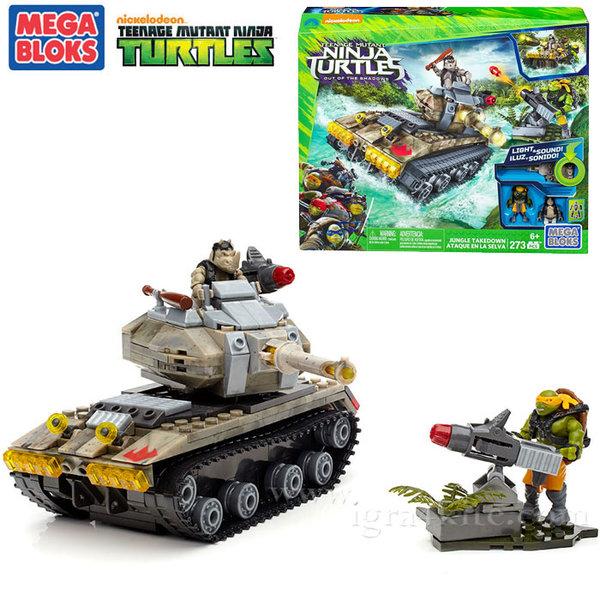 Mega Bloks TMNT - Забавен комплект Костенурките нинджа Битка в джунглата dpf81