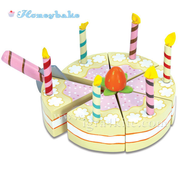 Le Toy Van - Honeybake Комплект рожден ден Vanilla TV273
