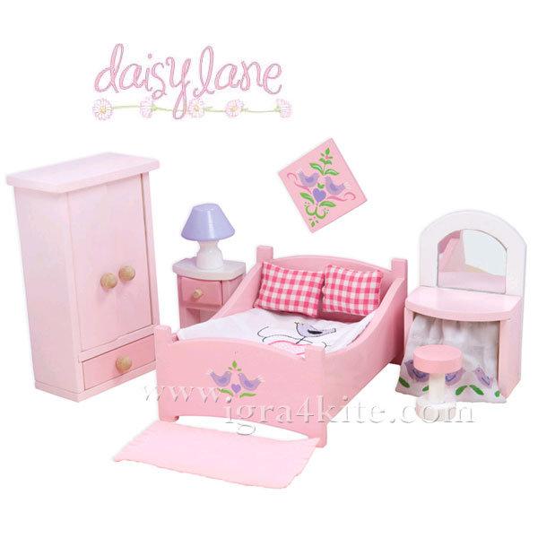 Le Toy Van - Обзавеждане за куклена къща Sugar Plam спалня ME050