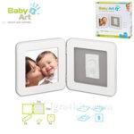 Baby Art - Двойна рамка за снимка и отпечатък бяло/сиво 0011