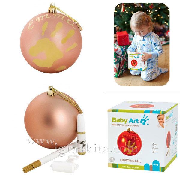 Baby Art - Коледна топка с отпечатък на ръчичка Koral 0036