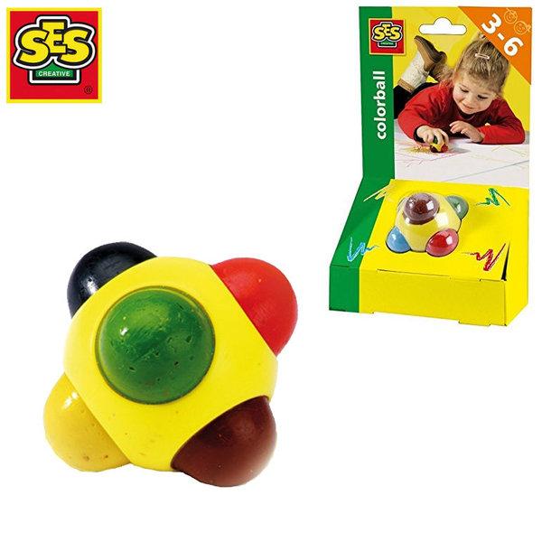 SES Creative - Пастел топка 6 цвята 00242