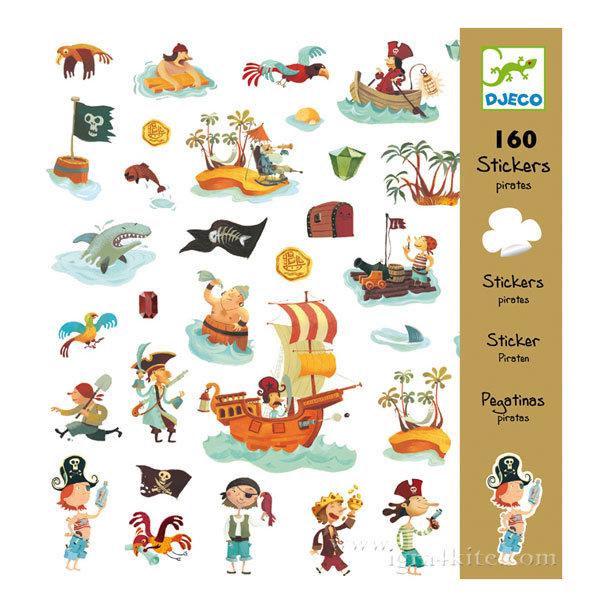 Djeco - Детски стикери пирати 160 бр. 08839