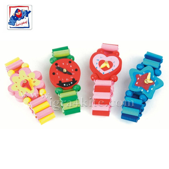 Woody - Детски дървен часовник гривна 90516