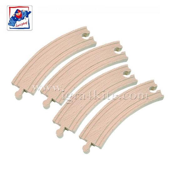 Woody - Дървени релси обли дълги 90560